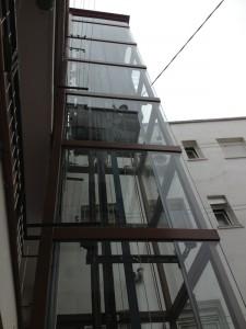 instalacion de ascensores en patio de luces