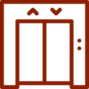 ascensores en el hueco de la escalera
