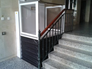 La plataforma elevadora para minusválidos fonsagrada