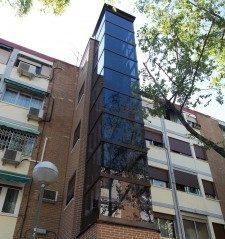 ascensor neumático en edificios pequeños y sin espacio