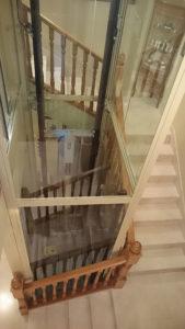 Instalación anscensores huecos escaleras chalet madrid