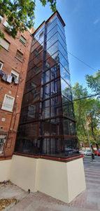 ascensor de fachada para edificios sin ascensor