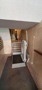 instalación de plataforma inclinada salvaescaleras en madrid