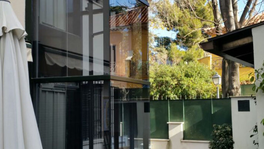 compra e instalación de ascensores de cristal para viviendas