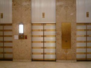 Puerta de relleno de ascensor